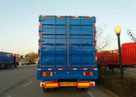 China SINO HOWO Hydraulic Dump Trailer , 3 Axle Semi Trailer For Transport Goods factory