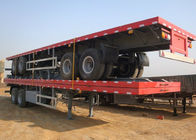 China SINO HOWO 40ft 20ft Container Trailer , Flatbed Semi Trailer For Transportation company