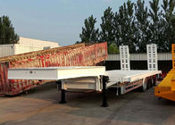 High Specification Low Bed Trailer Truck 4 Axles Heavy Loading 80 Tons