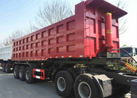 China 60 Ton 45 Ft 40 CBM Tipper Dump Truck And Trailer For Coal Sand Transport factory