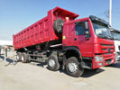 SINOTRUK HOWO 8 X 4 12 Wheel Heavy Duty Dump Truck 371HP 55 Tons Loading