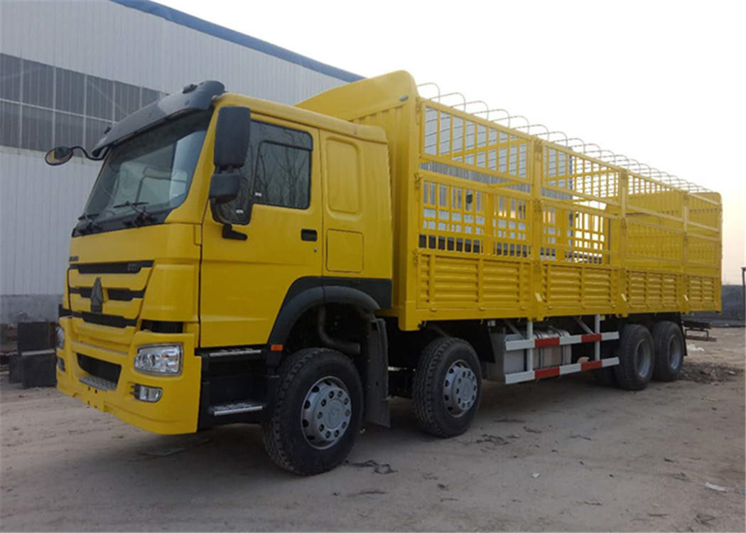 Yellow Color Cargo Vehicles With Warehouse Receipt , Durable Howo Cargo Truck