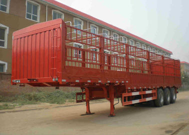 China Customized Tractor Trailer Truck 45 Ton 3 Axles Side Wall Trailer Truck factory