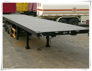 China SINOTRUK Container Trailer Truck 3 Axles 40FT 20 FT Flatbed Trailer Color Optional factory
