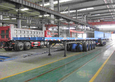 China 20 - 30 Ton Loading Flatbed Container Trailer , 40 Feet Flatbed Trailer For Cargo factory