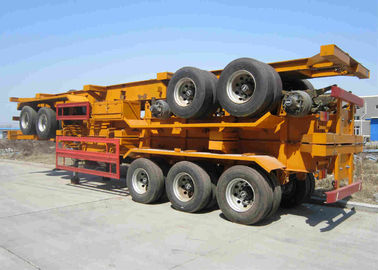 China Heavy Duty 3 Axle Tractor Truck 20ft 40ft Flatbed Container Trailer factory