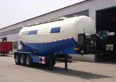 China Three Axles Cement Tanker Semi Trailer 35 - 45 CBM For Transport Dust Material factory