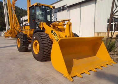 China High Performance XCMG Wheel Loader Machine / 5 Ton Wheel Loader Yellow Color factory