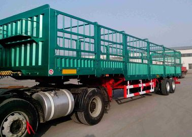 China Heavy Duty Fence Cargo Trailer / Side Wall Semi Trailer For Logistics factory