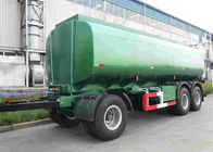 42000 Oil Tank Trailer / Fuel Tanker Semi Trailer With 4 Inch Manhole Cover