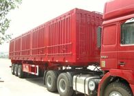 3 Axle 40-60 Ton Dump Truck , Cage Side Wall Semi Trailer With Drop Fence