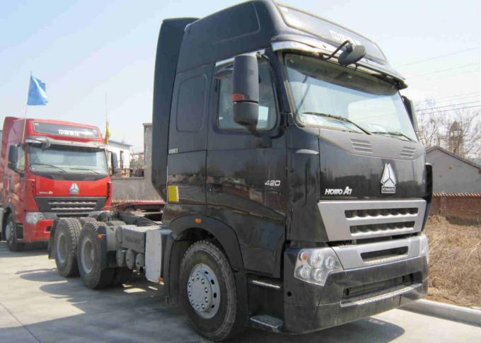 Manual Prime Mover Truck 25 Ton Loading SINOTRUK HOWO A7 Model ZZ4257V3247P1B