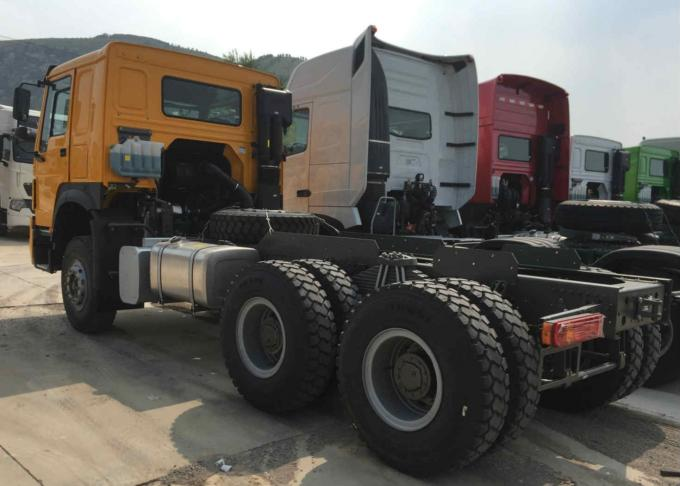 6 x 4 10 wheel 371HP Prime Mover And Trailer , SINOTRUK HOWO Truck Tractor Head